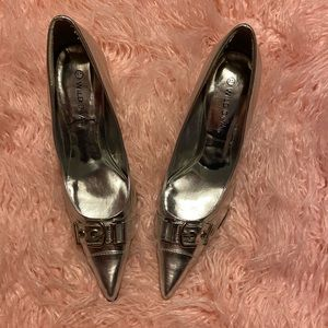 ❤️3 for $20 ❤️ Silver pointy toe heels